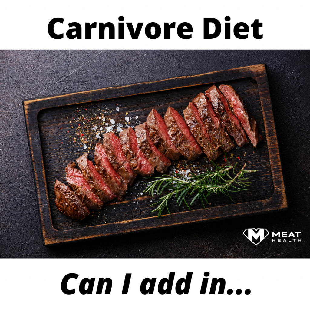 Tinkering with the Carnivore Diet